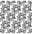 Black-white floral magic seamless pattern vector image vector image