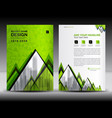 business brochure flyer template in a4 size green vector image