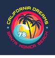 California - vintage badge vector image