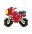 cartoon baby motorbike vector image vector image