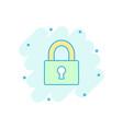 cartoon padlock icon in comic style lock unlock vector image vector image