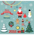 Christmas and new year set -decorative elements vector image vector image