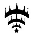 crowns wi-fi vector image