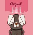 cute dog calendar cartoon vector image