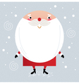 Cute Santa in red costume on snowing background vector image vector image