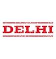 Delhi Watermark Stamp vector image vector image