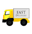 Delivery car yellow vector image vector image
