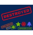 Destroyed Rubber Stamp vector image vector image