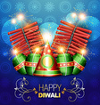 diwali crackers background vector image