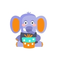 Elephant With Party Attributes Girly Stylized vector image vector image