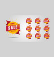 final sale set design elements yellow circles vector image