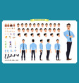 front side back view animated character vector image vector image