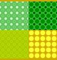 geometrical seamless pattern set - circle vector image