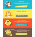 Hamster parrot cat and dog vector image vector image