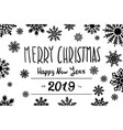 happy new year set of 2019 black number text vector image