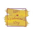 Happy Valentines Day greeting lettering vector image vector image