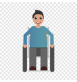 happy wheelchair boy icon flat style vector image vector image