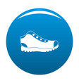 hiking boots icon blue vector image vector image