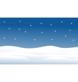 Hill full of snow Christmas landscape vector image