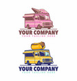 ice cream food truck and hot dog food truck logo vector image