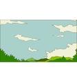 Idyllic landscape scene vector image vector image
