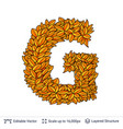 letter g sign of autumn leaves vector image