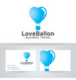 love balloon travel logo design vector image vector image