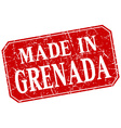 made in Grenada red square grunge stamp vector image vector image
