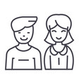 man and woman line icon sign vector image