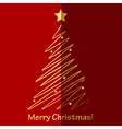 Merry Christmas card with fir tree vector image