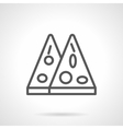 Mexican pizza black line icon vector image