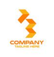 modern letter f and finance logo vector image
