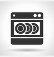 monochromatic dishwashing machine icon vector image vector image