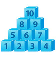 number block from one to ten vector image