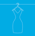 one line drawing of isolated woman dress on hanger vector image vector image