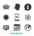 online shopping icons smartphone cart buy vector image vector image