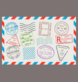 post stamp flat cartoon set vector image vector image