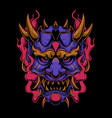 Purple oni mask