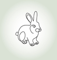 Rabbit in minimal line style vector image vector image