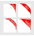 Sale Red Corner collection Business Ribbons on vector image vector image