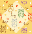 seamless pattern with dog vector image