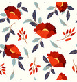 seamless pattern with red poppies vector image vector image