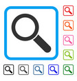 search tool framed icon vector image vector image