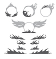 Set of flame forms for create logotype vector image vector image