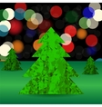 Set of Green Polygonal Trees vector image vector image