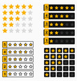 star rating bar vector image vector image