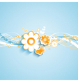 summer floral background 0307 vector image vector image
