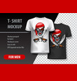t-shirt template fully editable with pirate eps vector image vector image