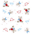 teddy bear pattern background vector image vector image