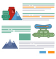 Tourism brochure design elements vector image vector image